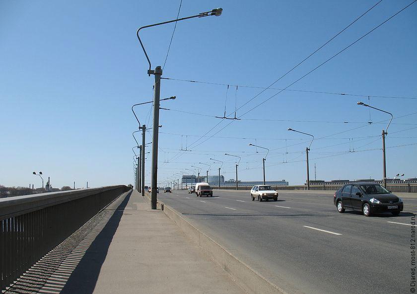 моста Александра Невского,