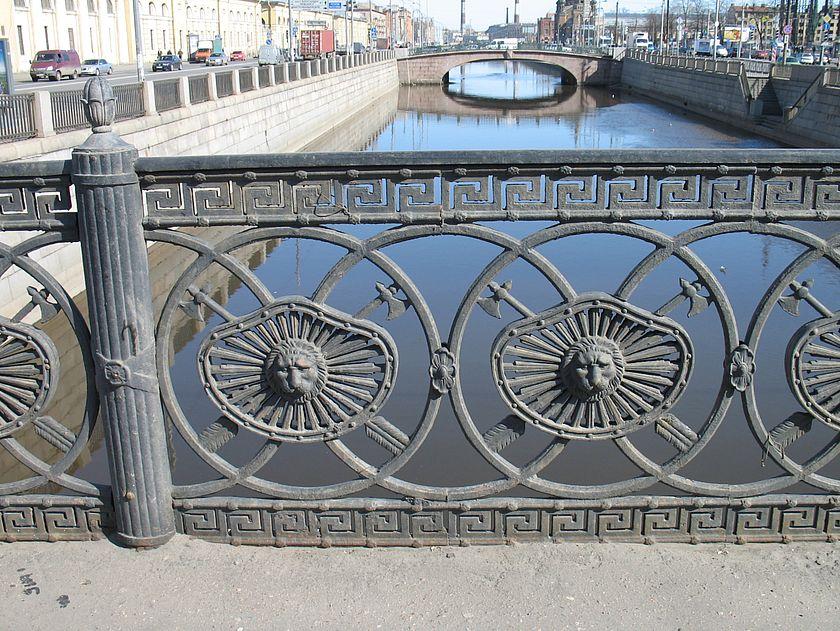Ново петергофский мост решетка моста