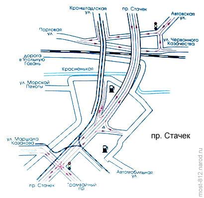 схема развязки на проспекте